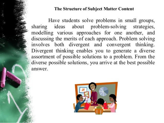 The Structure of Subject Matter ContentArgument analysis – You are engaged in this criticalthinking process when you discr...