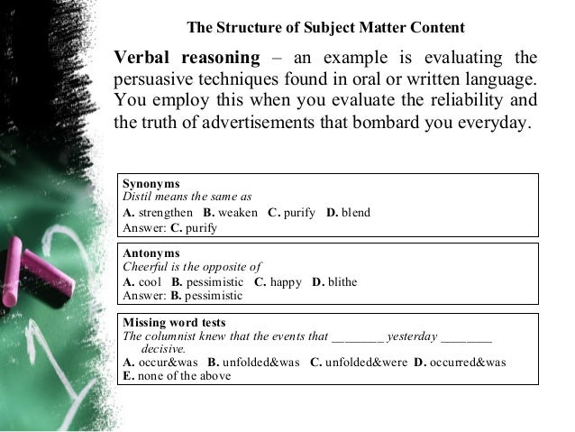The Structure of Subject Matter ContentWhat creative thinking behaviors should bedeveloped?Awareness – The ability to noti...