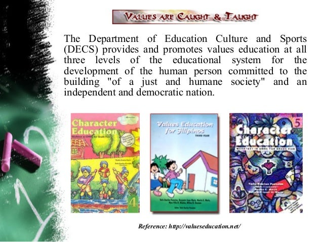 THE VALUES EDUCATION PROGRAMLegend:                                  Song:A story handed down from                 A song ...