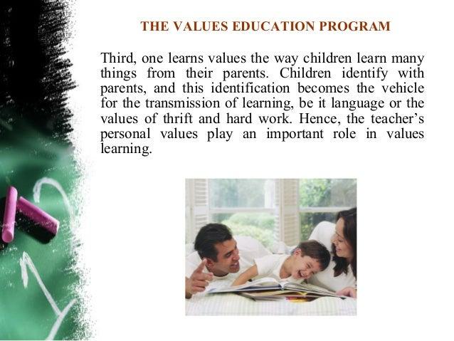 THE VALUES EDUCATION PROGRAMAnecdote:                                      4 Yea, though I walk through the valleyA short ...