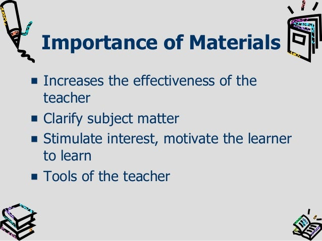 Selection And Preparation Of Instructional Materials
