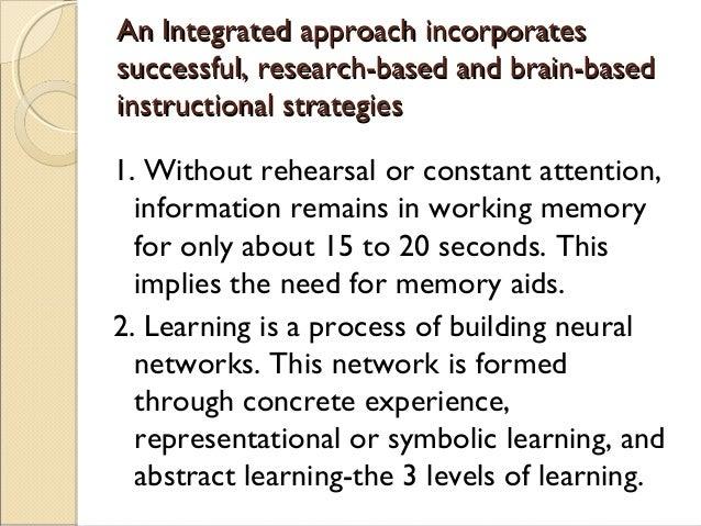 An Integrated approach incorporatesAn Integrated approach incorporates successful, research-based and brain-basedsuccessfu...