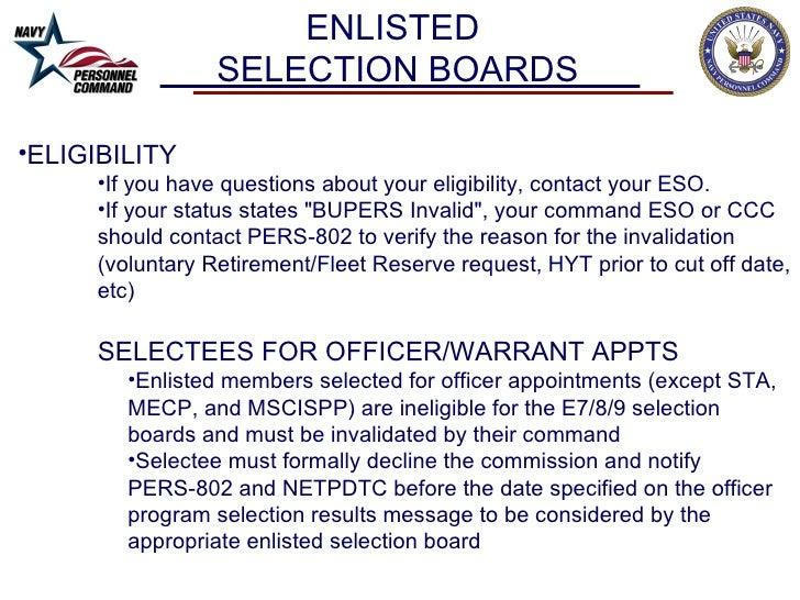 selection boards advancements brief rev2011npc