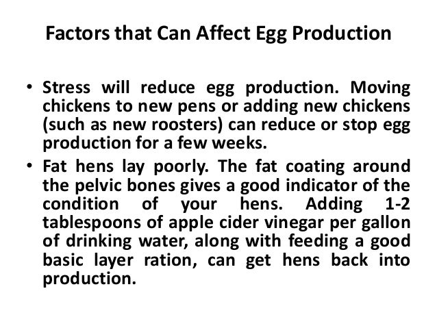 Measuring Productivity • Many different measurements have been used over the years to record egg production. • Number of e...