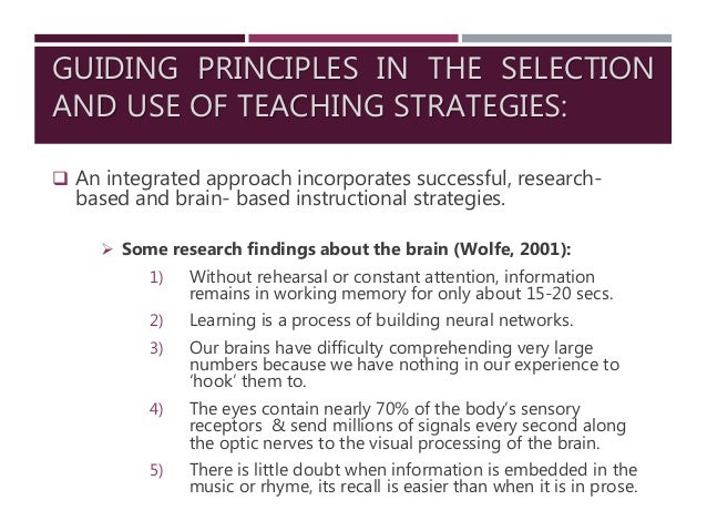 Guidelines In The Selection Of Teaching Strategies