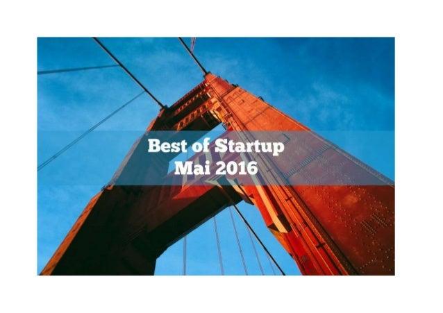 "Sélection Startup Mai 2016 | via la rubrique Good Morning Startup Dans le cadre de nos interviews ""Good Morning Startup"" c..."