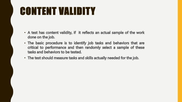 importance of validity and reliability in assessment