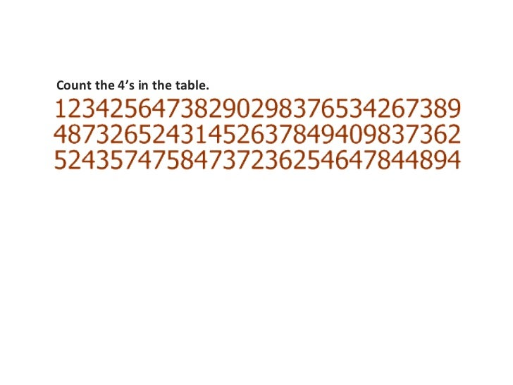 Count the 4's in the table.