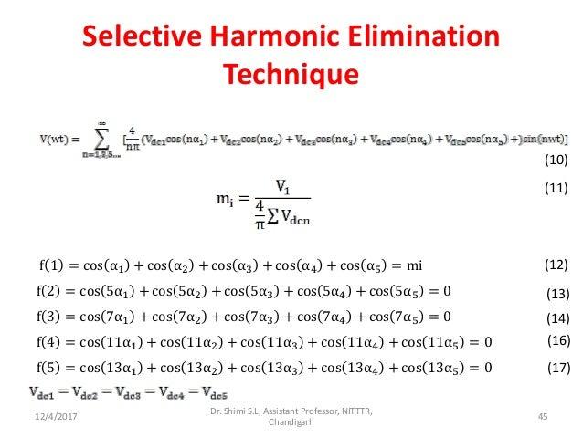 Harmonic elimination techniques ppt
