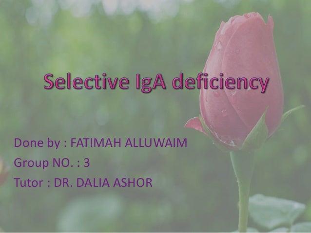 Done by : FATIMAH ALLUWAIM Group NO. : 3 Tutor : DR. DALIA ASHOR