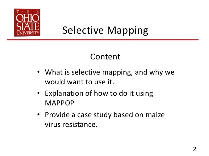 Selective Mapping Tutorial Slide 2