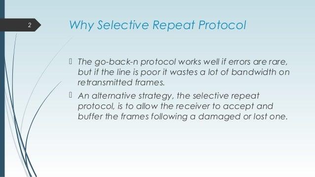 Selective repeat protocol Slide 2