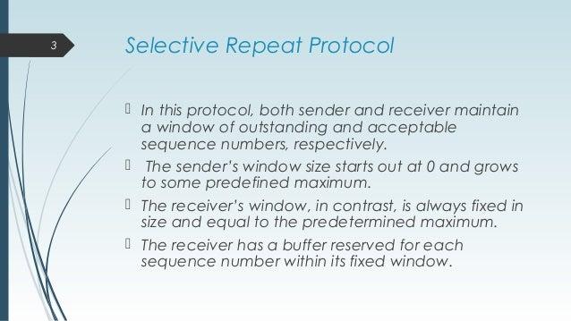 Selective repeat protocol Slide 3