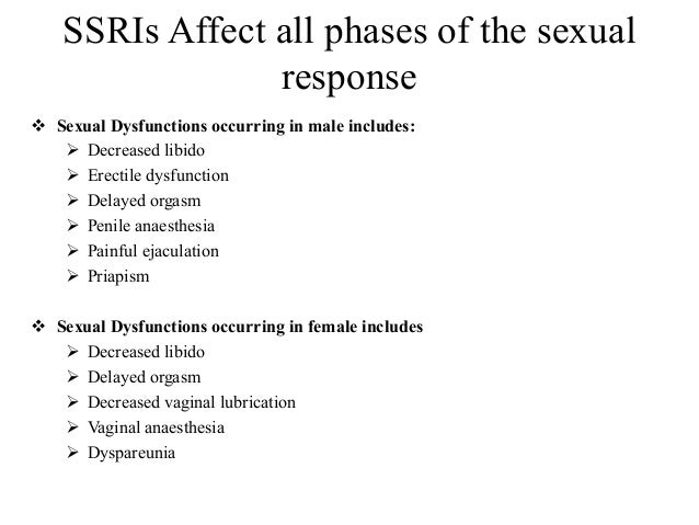 Ssri sexual dysfunction mechanism of fever
