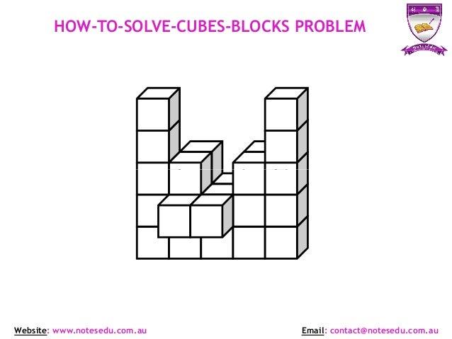 Selective Test General Ability Cubes Problems NotesEduOz