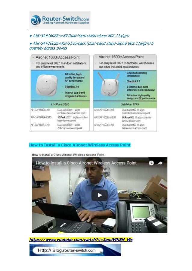 Select the great cisco aironet 1600 series for small network offices