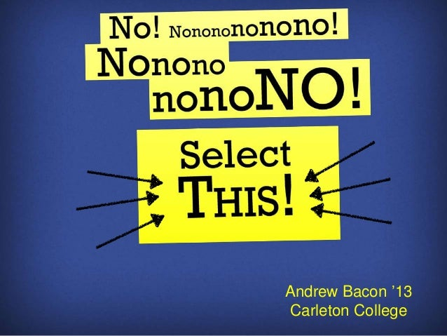 "Andrew Bacon ""13Carleton College"