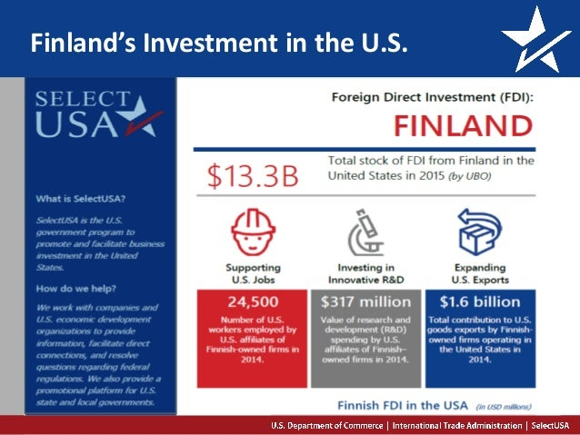 Finland's Investment in the U.S.