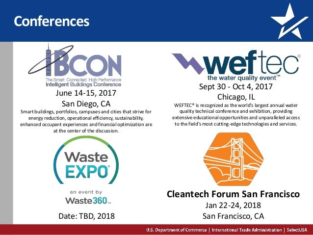 Conferences Sept 30 - Oct 4, 2017 Chicago, IL WEFTEC® is recognized as the world's largest annual water quality technical ...