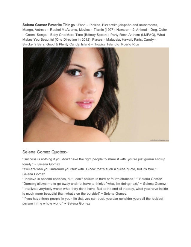 selena quotes biography