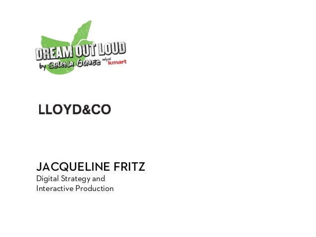 JACQUELINE FRITZ Digital Strategy and Interactive Production