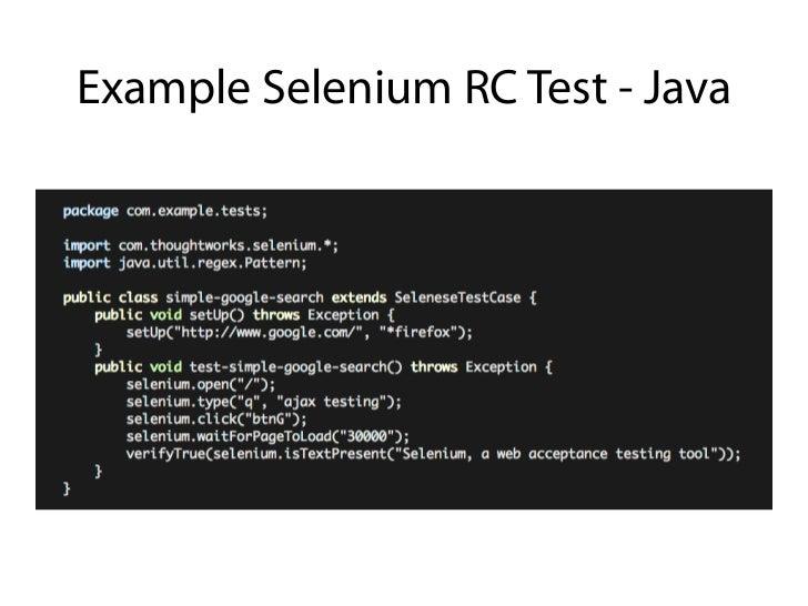 Example Selenium RC Test - Java