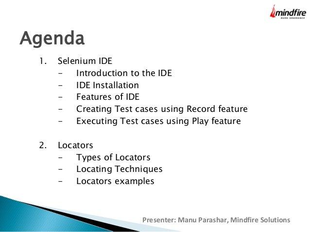 Selenium IDE LOCATORS Slide 3