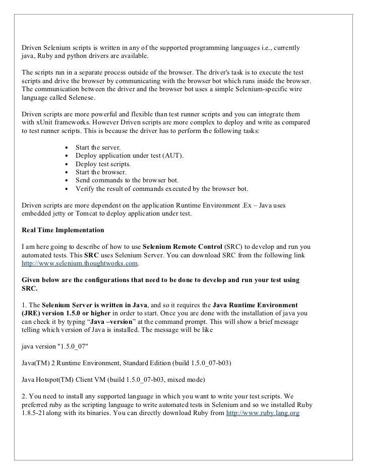 stron biz sle resume for selenium automation testing