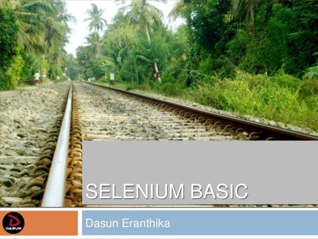 SELENIUM BASICDasun Eranthika