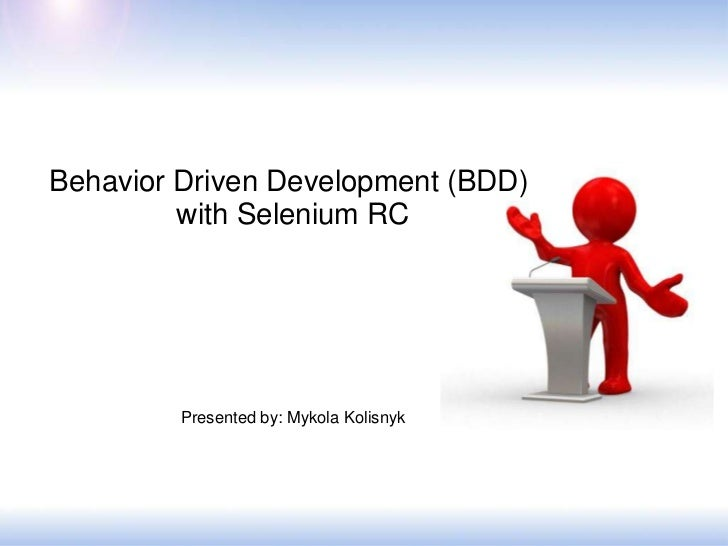 BDD approach with Selenium RC