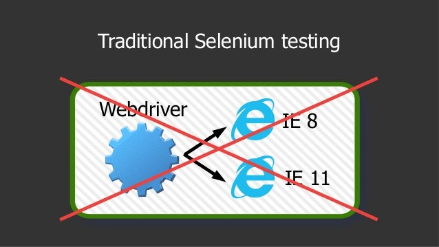 Traditional Selenium testing IE 8 IE 11 Webdriver