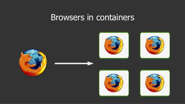 Browsers in containers