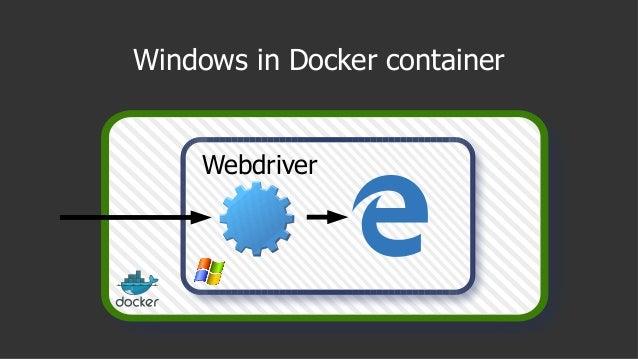 Windows in Docker container Webdriver
