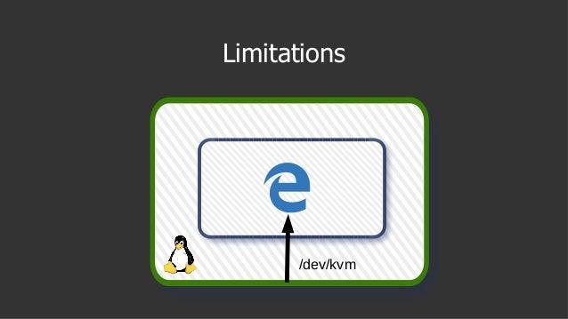 Limitations /dev/kvm