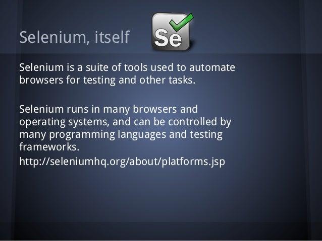 Selenium IDE Slide 2