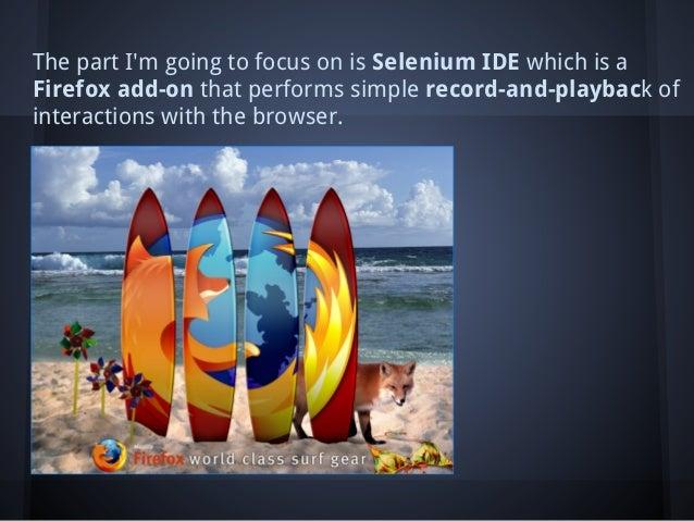 Selenium IDE Slide 3