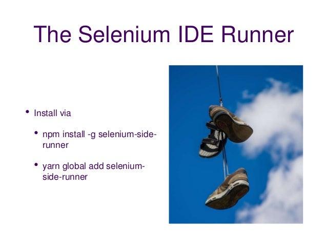 Selenium IDE: The Next Generation - presented Simon Stewart