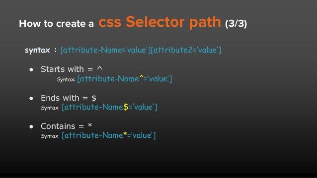 Selenium locators: ID, Name, xpath, CSS Selector advance