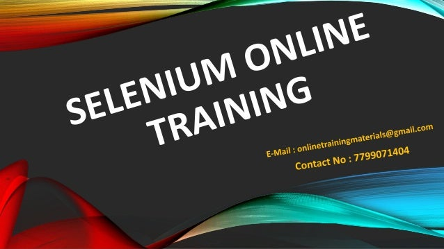 •Selenium: • Sudeep Technologies is one of the leading Training company involved in providing DRUPAL ONLINE TRAINING. Our ...