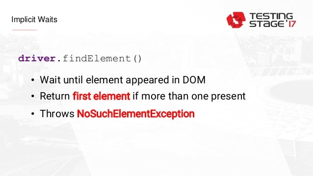Implicit and Explicit waits in Selenium WebDriwer, how to