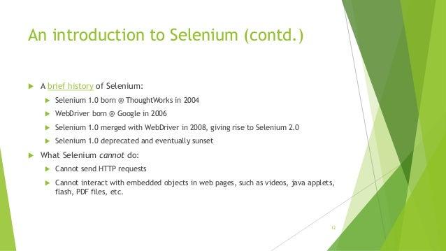 Selenium WebDriver training