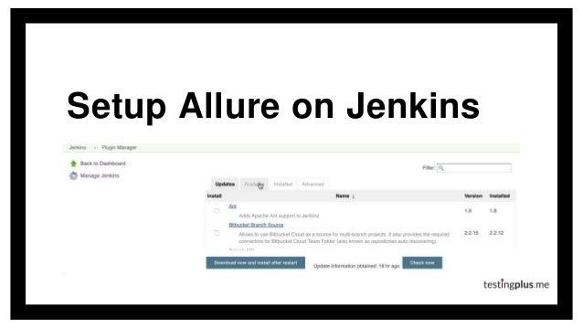 Setup Allure on Jenkins