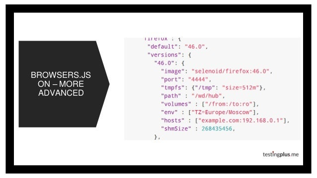 BROWSERS.JS ON – MORE ADVANCED