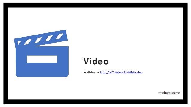 Video Available on http://urlToSelenoid:4444/video