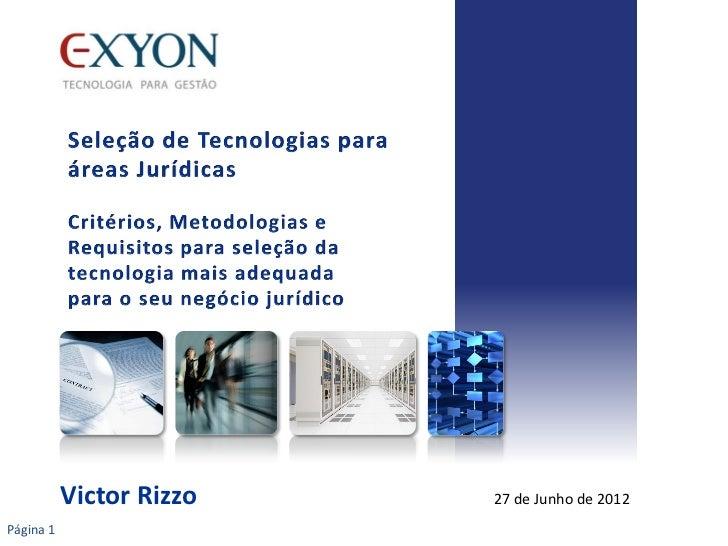 Victor Rizzo   27 de Junho de 2012Página 1