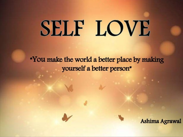 how to make yourself a better person