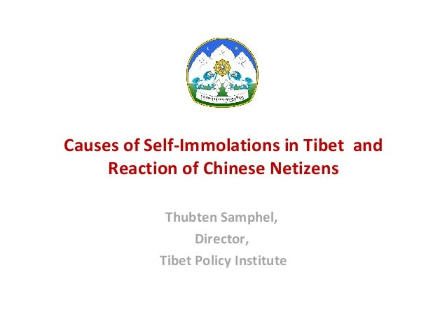 Causes of Self-Immolations in Tibet and Reaction of Chinese Netizens Thubten Samphel, Director, Tibet Policy Institute