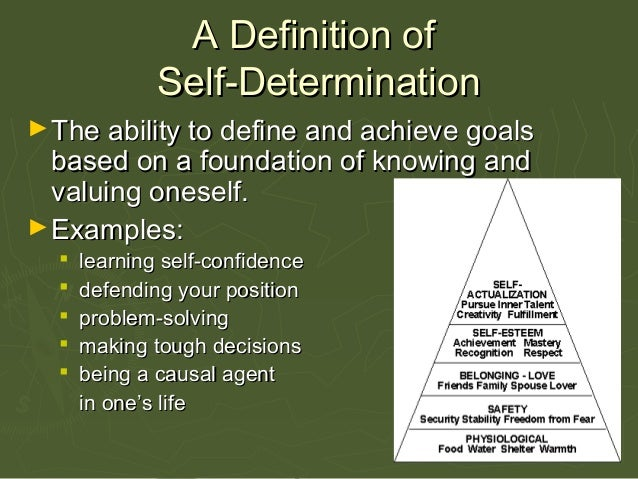 PPT - Self-Advocacy and Self-Determination Skills for Transition ...