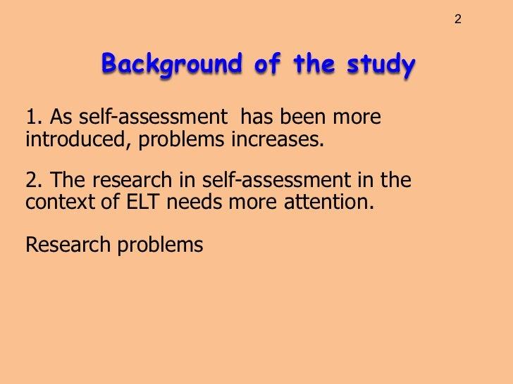 Self assessment-in-columbia Slide 2