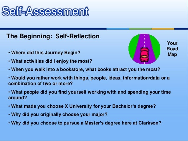 Step One- Reflection and Self-Evaluation